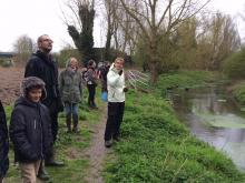 listening to birdsong along the River Purwell